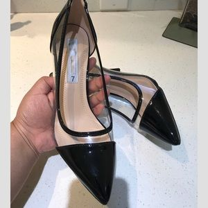 Shoes - New Clear Black Heels last one 7